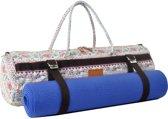 #DoYourYoga - XL yogatas - »Malati« - geschikt voor extra dikke yoga, fitness pilates matten - L 68 cm & Ø 17 cm. - Roze design