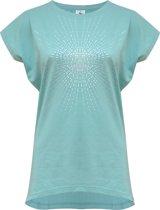 "Yoga-T-Shirt ""Batwing sunray"" - mint/silver L Loungewear shirt YOGISTAR"