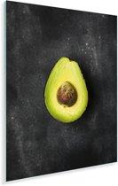 Eenzame avocado op een tafel Plexiglas 40x60 cm - Foto print op Glas (Plexiglas wanddecoratie)