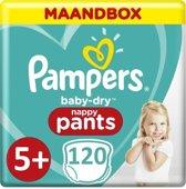 Pampers Baby Dry Pants Luierbroekjes - Maat 5+ (12 tot17 kg) - 120 stuks - Maandbox