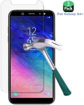 3 Stuks Screenprotector Tempered Glass Glazen Gehard Screen Protector 2.5D 9H (0.3mm) - Samsung Galaxy A6 2018