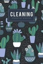 Cleaning checklist planner: Housekeeping Easy Checklist cleaning Organized Journal Notebook Simply Daily weekly for maid 6x9 inch Paperback