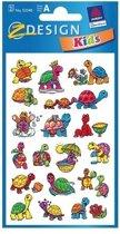 3x Schildpad stickers 2 vellen - kinder stickers