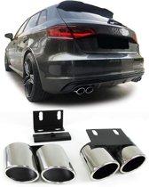 Sport uitlaatpijpen RVS Audi A3 8V vanaf 2013  4 stuks set