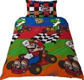 Super Mario Champs - Dekbedovertrek - Eenpersoons - 135 x 200 cm - Multi