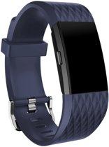 Special Edition Bandje Donkerblauw geschikt voor FitBit Charge 2 – Large