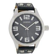 OOZOO Timepieces Polshorloge - C1062 - Donkerblauw - 46 mm