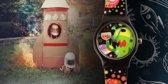 Linkgraphix Mars party - Horloge - Kunststof - 34 mm - Zwart