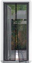 Pro Plus - Lamellenhor voor deuren (met magneet) - 50x210 cm - Zwart
