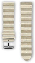 100% katoenen horlogeband met leder (achterzijde) Sand 22 mm