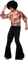 Disco blouse multicolour voor heer