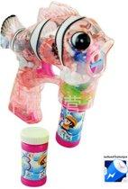 Bubble Gun - Bellenblaas Pistool - Bellenblaaspistool - Clownvis - Rood (incl. batterijen)