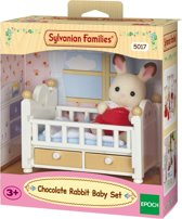 Sylvanian Families 5017 Set Baby Chocoladekonijn (Babybedje)  - Speelfigurenset