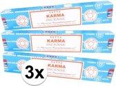 3x Nag Champa wierook Karma 15 gram