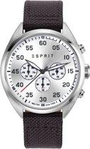 Esprit ES108791004 Horloge - Leer - Bruin - Ø 43 mm