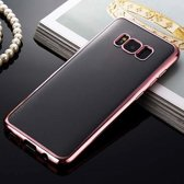 Plating Bumper Soft Flexible hoesje Samsung Galaxy S8 Plus rose
