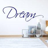 Muursticker Dream -  Donkerblauw -  120 x 43 cm  - Muursticker4Sale