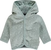 Noppies Unisex Vest sweat Terrell - Grey Mint - Maat 56