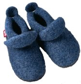 Pololo babyslofjes wol jeansblau