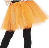 Petticoat/tutu rokje oranje 31 cm voor meisjes - Tule onderrokjes oranje voor kinderen