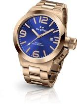 TW Steel CB181 Canteen Bracelet Collection - Horloge -  45 mm - Rosékleurig