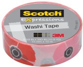 Scotch Expressions tape 15 mm x 10 m poppy