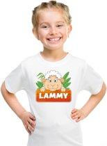 Lammy het schaapje t-shirt wit voor kinderen - unisex - schapen shirt XL (158-164)