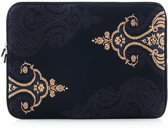 Laptop sleeve tot 14 inch met Paisley print – Antraciet/Zwart/Lichtgeel