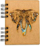 Houten notitieboek - A5 – Blanco – Olifant