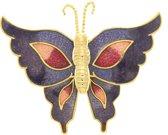 Behave® Broche vlinder paars emaille
