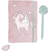 Unicorn Pluche Dagboek - A5 - inclusief pen