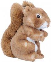 Pluche eekhoorn knuffel bruin 20 cm � knuffeldier