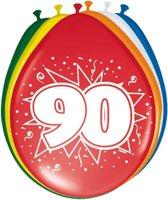 16x stuks Ballonnen versiering 90 jaar