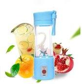 Draagbare blender -Licht Blauw-voor Smoothies, Eiwitshakes en Fruitmixen - Persoonlijke Blender - Oplaadbaar via USB-Poort, Capaciteit 380 ml