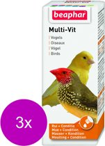Beaphar Multi-Vitamine Vogels - Vogelapotheek - 3 x 50 ml