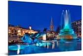 Blauwe tinten bij het Trafalgar Square in Londen Aluminium 30x20 cm - klein - Foto print op Aluminium (metaal wanddecoratie)