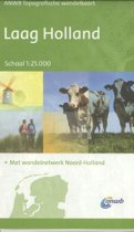 ANWB topografische wandelkaart - Laag Holland
