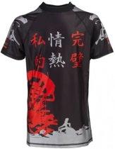 Nihon Thermoshirt Rashguard Nippon Zwart Maat Xl