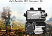 7-in-1 Multifunctionele reis Emergency Survival Kit - Noodgevallen Kit- Kamperen - met opbergbox