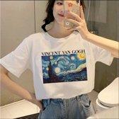 Van Gogh T-Shirt Koreaanse Fashion  | Ulzzang | Korean Clothing | Kawaii | Koreaanse Shirt | KPOP | BTS