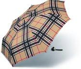 Adventure Bags Paraplu Geruit Camel Opvouwbaar