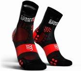 Compressport Pro Racing Socks V3.0 Ultralight Run High Smart Black Hardloopsokken