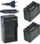 ChiliPower Sony NP-F970 KIT (2 accu's + oplader + 12V autosnoer)