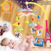 Kleurvolle Baby Muziek Mobiel met Afstandsbediening en sterren projector