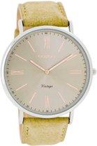 OOZOO Vintage C7340 - Horloge - 40 mm - Leer - Beige