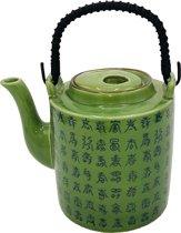 Theepot porselein - Chinees motief - 1 liter