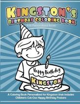 Kingston's Birthday Coloring Book Kids Personalized Books