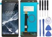 Let op type!! LCD-scherm en Digitizer voor Nokia 5.1(Black)