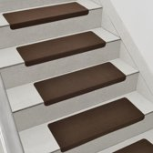 [en.casa] Trapmat set zelfklevend 15stuks - bruin
