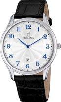 Festina F6851/2 Klassiek - Horloge- Staal - Zilverkleurig - 41 mm